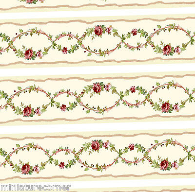 Dolls House Wallpaper Border 77 ins long  Quality Paper 1/12th 1/24th B70