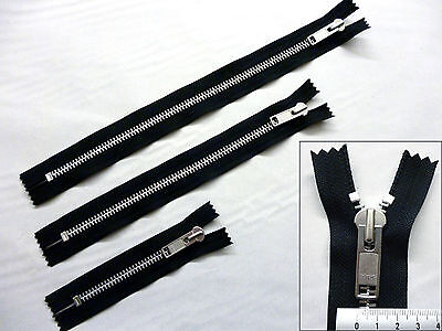 Zip, Zipper, Extra Heavyweight,10w, Closed End, Metal YKK, Black 6, 12, 15inches