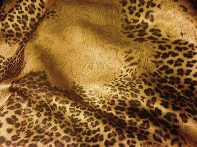 Paisley Abstract Leopard Gold Polyester Cat Skin 60cm x 100cm New by Dcf