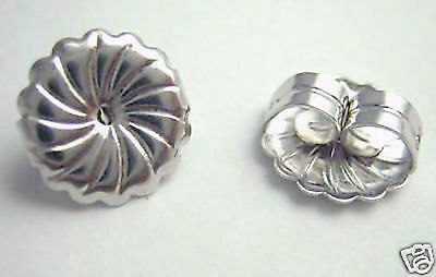 1 Pair Solid Sterling Silver Large Safety Replacement Earring Backs Heavy Duty