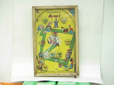 Vintage Poosh-M-Up Jr. 4in1 Table Top Pinball Game 11X17 Framed With Glass