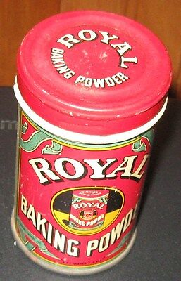 Antique Royal Baking Powder Tin Unique Size Nice Graphics Ny Ny Copyright 1938