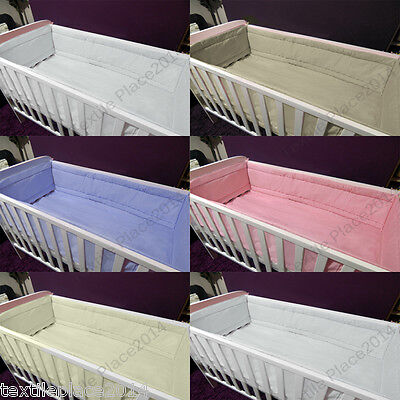 All Round Large Long Padded Soft Bumper To Fit Cot /Cot Bed