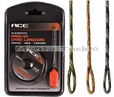 NEW Ace Carp 5m Hard-On CAMO LEADCORE 45lb Silt Weed Gravel + Splicing Needle