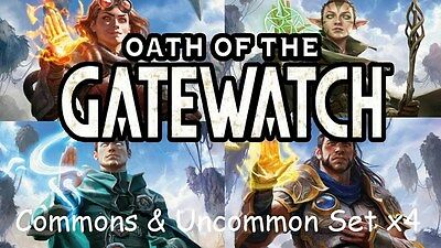 OATH OF THE GATEWATCH Magic the Gathering UNCOMMON SET x 4 + COMMON (500 Random)