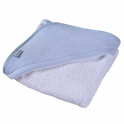 New Clair De Lune Super Soft Hooded Towel Cotton Candy Blue Ideal Baby Gift