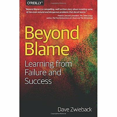 Beyond Blame: Learning From Failure and Success - Paperback NEW Dave Zwieback(A