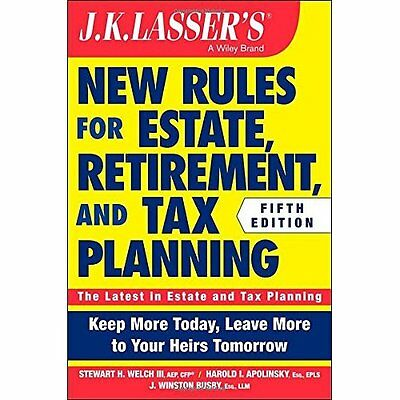 J K Lasser's New Rules for Estate, Retirement, and Tax  - Paperback NEW Stewart