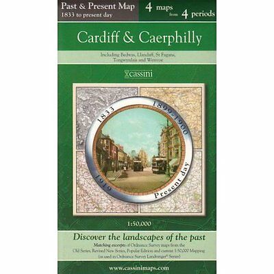 Cardiff and Caerphilly (Cassini Past and Present Map) - Map NEW Herbert, Franci
