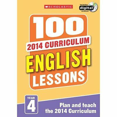 100 English Lessons: Year 4 (100 Lessons - 2014 Curricu - Paperback NEW Pam Dows