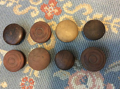 Antique Lot of 8 Wooden Drawer Handles Pulls Mismatched chalk paint shabby