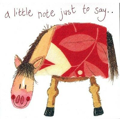 "Alex Clark Art Horse  Note Cards  Set Of 4 Cards ""a Little Note Just To Say.."""