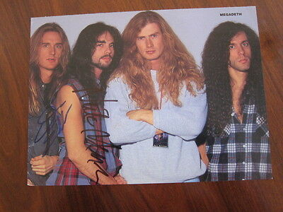 MEGADETH  Hand Autographed clipping a