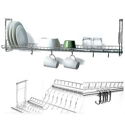 """31"""" Stainless Fixing Dish Drying Rack Single Shelf Sink Kitchen Cup Storage New"""