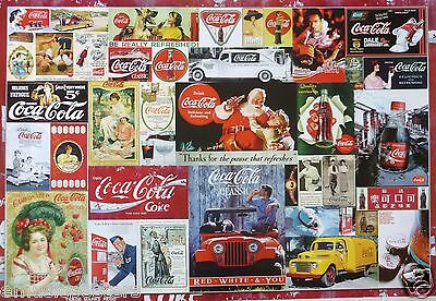 Coca Cola Collage: Classic Coke Advertisements Through The Years, Soda Pop Ads