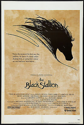 THE BLACK STALLION original 1979 27x41 one sheet movie poster