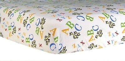Dr. Seuss Abc Deluxe Flannel Fitted Crib Sheet