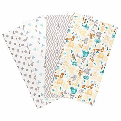 Lullaby Zoo 4 Deluxe Flannel Burp Cloths