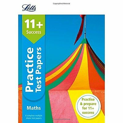 11+ Maths Practice Test Papers - Multiple-Choice: for t - Paperback NEW Letts 11
