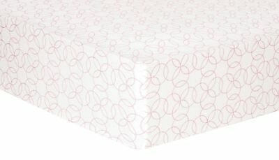 Pink Circles Deluxe Flannel Fitted Crib Sheet