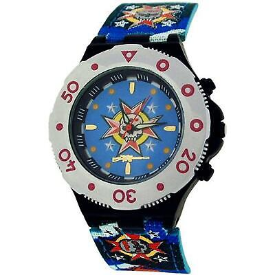 Call Of Duty Boys Blue Cameo AK47 Icon Analogue Watch