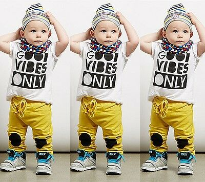 Casual Toddler Baby Boy Tee Shirt + Pants Outfits Set Tracksuit Clothes Age 0-5