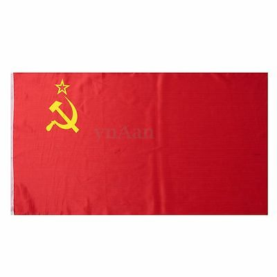 Red CCCP Union of Soviet Socialist Republics USSR Flag Russia Banner 90*156cm