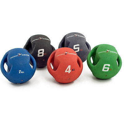Precision Training  4kg Twin Handle Medicine Ball rrp£41