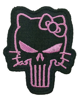 Hello Kitty Punisher  2.25 inch TACTICAL Morale HOOK PATCH