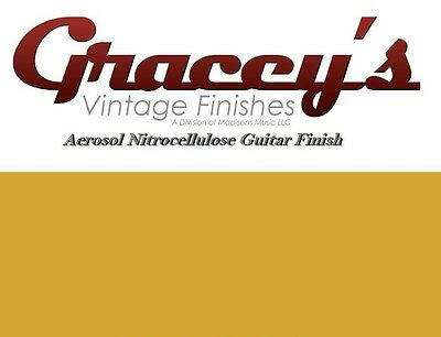 -Butterscotch- Gracey's Vintage Finishes Nitrocellulose Guitar Lacquer Aerosol.