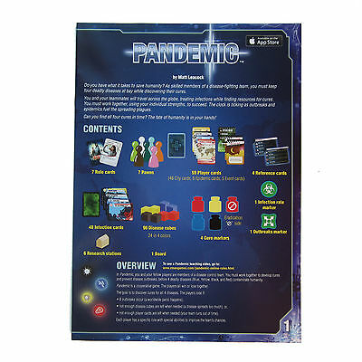NEW Pandemic Rules Instruction Booklet Replacement / Expansion Game Parts