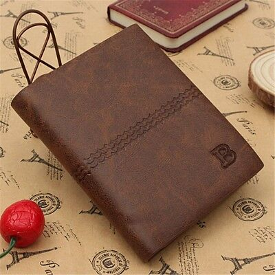 New Mens Leather Wallet Luxury Soft Quality Genuine Credit Id Card Holder Purse