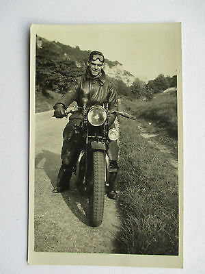 Fred Dicker On An Aeriel Motor Cycle - Location Unknown
