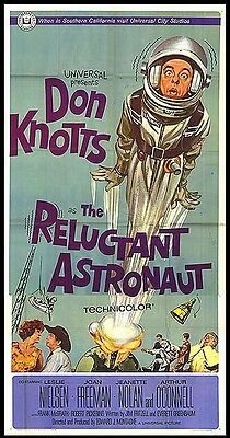 THE RELUCTANT ASTRONAUT original 1967 large RARE 3-sheet movie poster DON KNOTTS