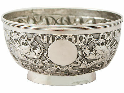 Antique Chinese Export Silver Bowl - Circa 1890