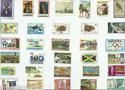 A Selection Of 32 Good/fine Used Stamps From Jamaica