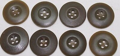 WWII US Mackinaw overcoat button olive color set 28mm 1 1/8in 45L Lot of 8 B8300
