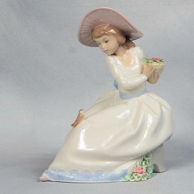 Nao By Lladro Porcelain Figurine - #1345 The Nightingales Song