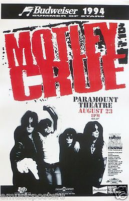 MOTLEY CRUE 1994 DENVER CONCERT TOUR POSTER -Heavy / Glam Metal, Hard Rock Music