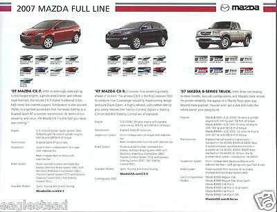 Auto Brochure - Mazda - Product Line Overview incl Truck - 2007 (AB868)