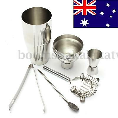5Pcs 750ML Stainless Steel Cocktail Jigger Mixer Bar Drink Shaker Bartender Set
