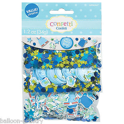Blue Boy's New Baby Shower With Love Party Confetti Table Sprinkles Triple Pack