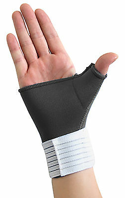 Black Neoprene Hand Wrist Palm Thumb Adjustable Support Glove Bandage Brace Gym