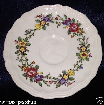 Royal Doulton Leighton Saucer For Demitasse Cup Multi-Color Flowers Pink Ribbon
