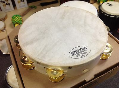 """Grover Pro Percussion Quality 10"""" Brass Jingle  Tambourine ***FAST SHIPPING"""