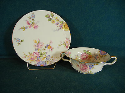 Castleton China Sunnybrooke Cream Soup Bowl and Under Plate Set(s)
