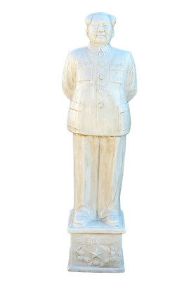 Chinese Large Porcelain White Standing Chairman Mao Figure cs1212