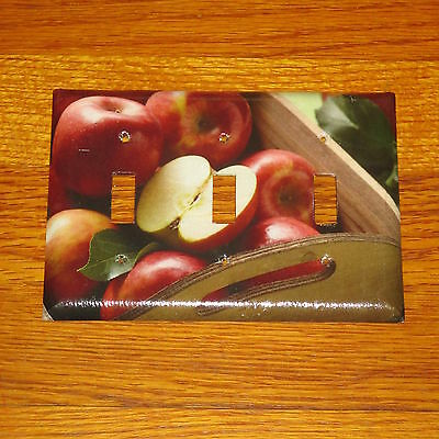 Red Delicious Washington Apples 3 Hole Light Switch Cover Plate #2