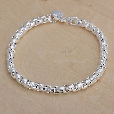 New Fashion silver plated solid cute CHAIN jewelry Classic trend bracelet H157