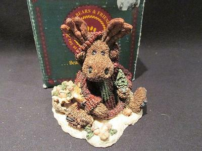 Manheim the Eco-Moose 1994 Boyds Bearstone Figure 3E/3481 & Box  #2243